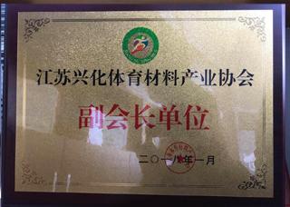 """兴奥体育被评选为""""江苏省兴化体育材料产业协会副会长单位"""""""