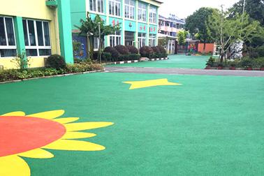 盐仓幼儿园彩色橡胶颗粒运动场地